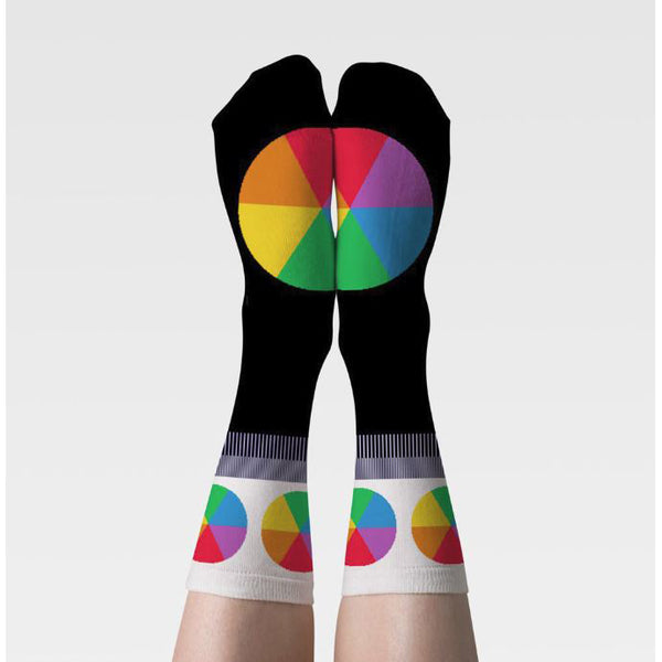 Color Wheel Crew Socks