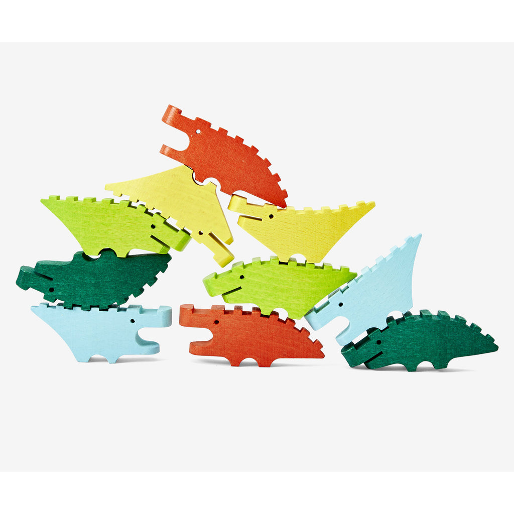 Croc Pile Wooden Stacking Toy