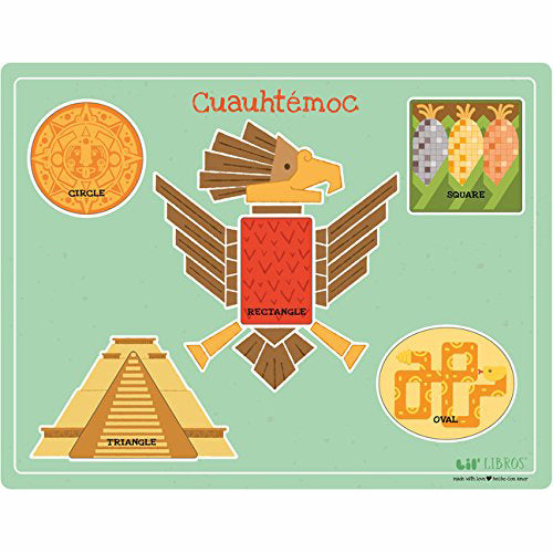 Cuauhtemoc:  A Bilingual Wooden Shapes Puzzle