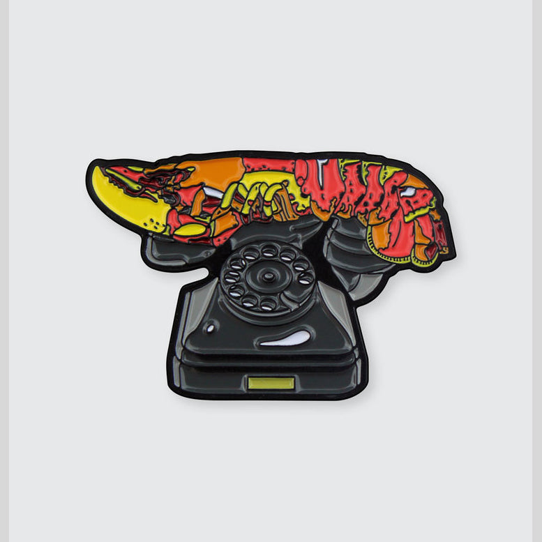 Lobster Telephone Dali Enamel Pin