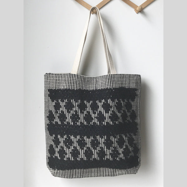 Simple Black Diamond Tote Bag
