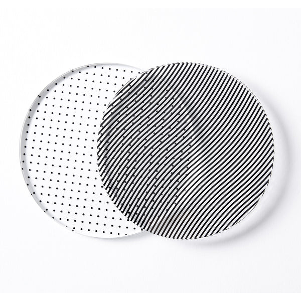 Glass Grid Coasters - Set of 4