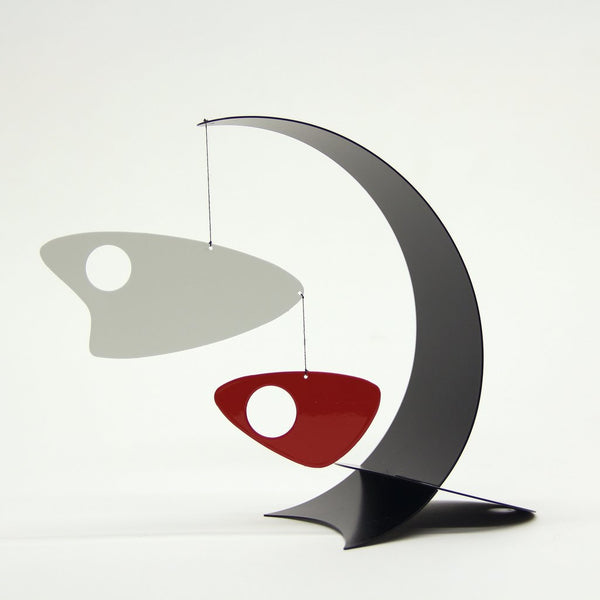 Ekko Abstract Arc Desktop Mobile In Black, White & Red