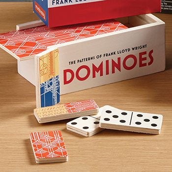 Patterns of Frank Lloyd Wright Dominoes Game