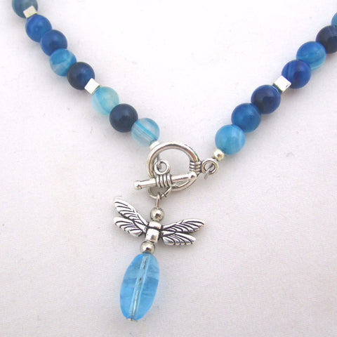 Firefly Blue Agate Necklace