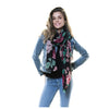 Flora Scarf with Fringe