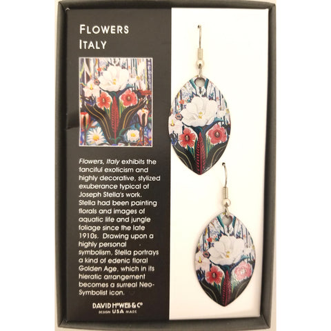 Joseph Stella Flowers, Italy Earrings - David Howell