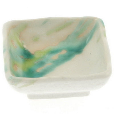 Japanese 3 Colors Flowing Square Sauce Dish