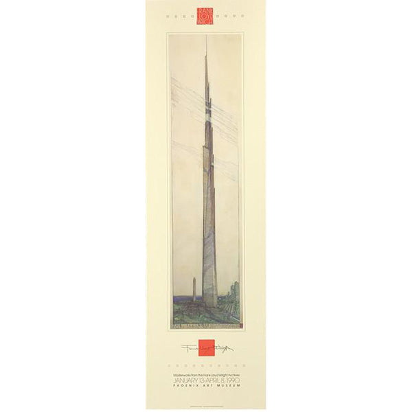 Frank Lloyd Wright Mile High Tower, Illinois Poster