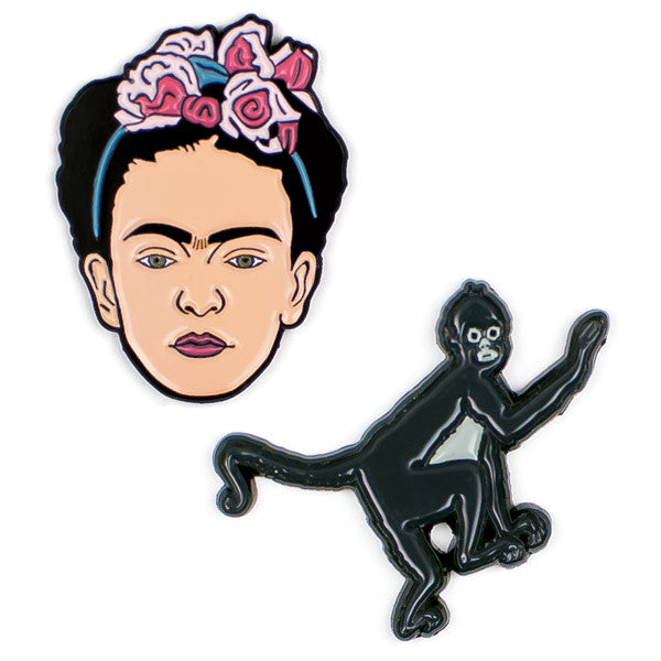 Frida & her Monkey Enamel Pin Set