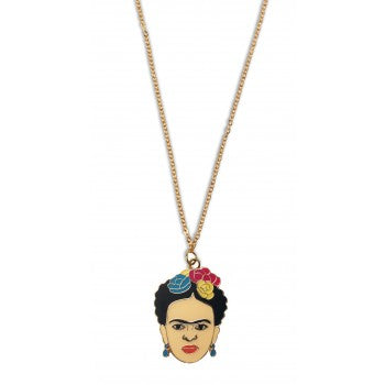 Frida Enamel Pendant Necklace