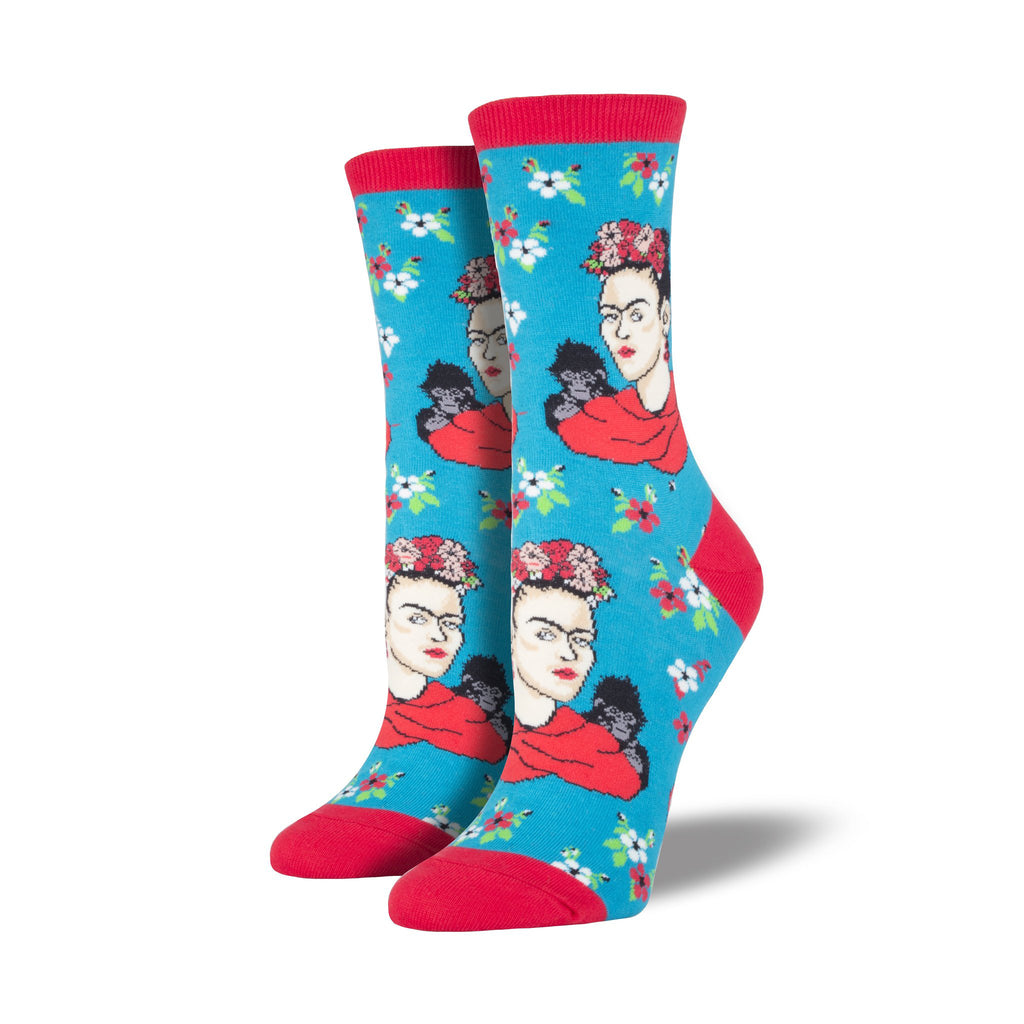 Frida Kahlo Portrait Crew Socks