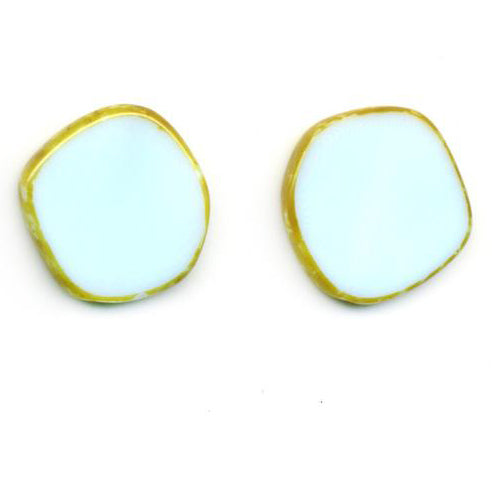 Full Circle Czech Glass Large Stud Earrings
