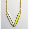 Modern V Shaped Necklace - Geese Flying