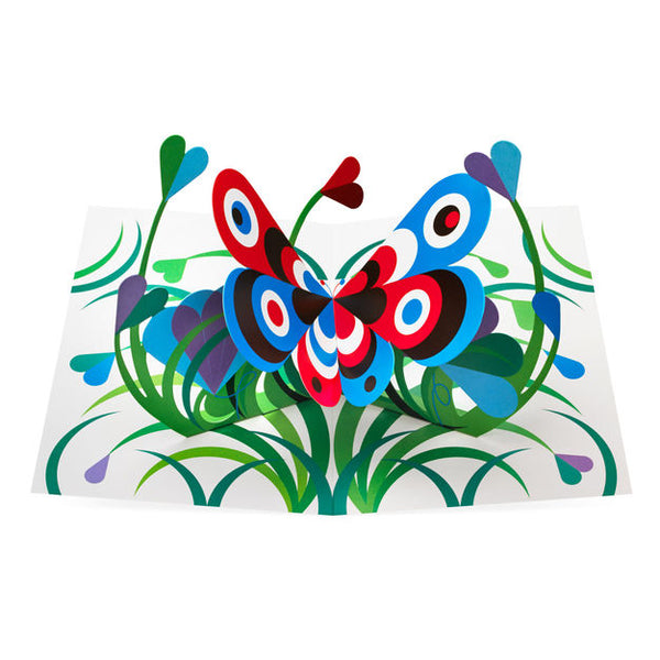 Graphic Butterfly Pop Up Greeting Card