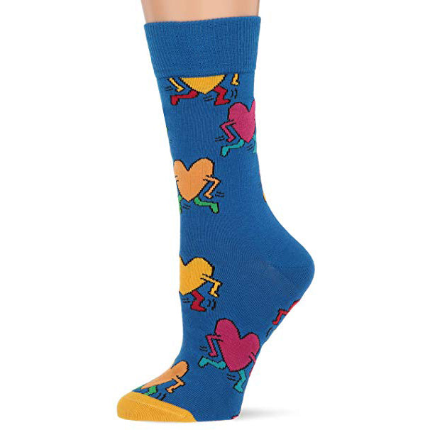 Keith Haring Running Heart Socks by Happy Socks