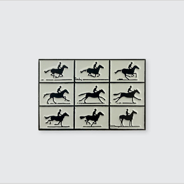 Muybridge Horse in Motion Enamel Pin