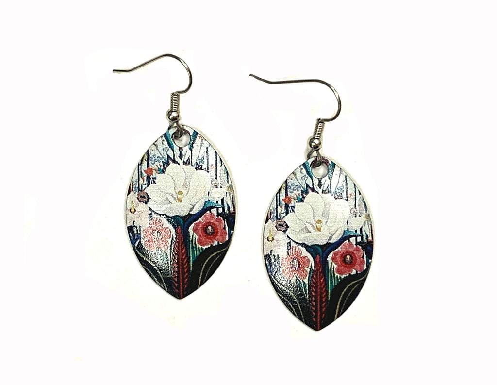 Joseph Stella Flowers, Italy Earrings