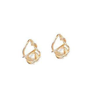 Nina Berenato Imperfect Knot 14K Gold Earrings