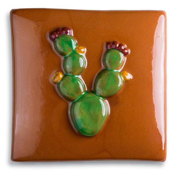 Prickly Pear Terracotta Tile by Jim Sudal