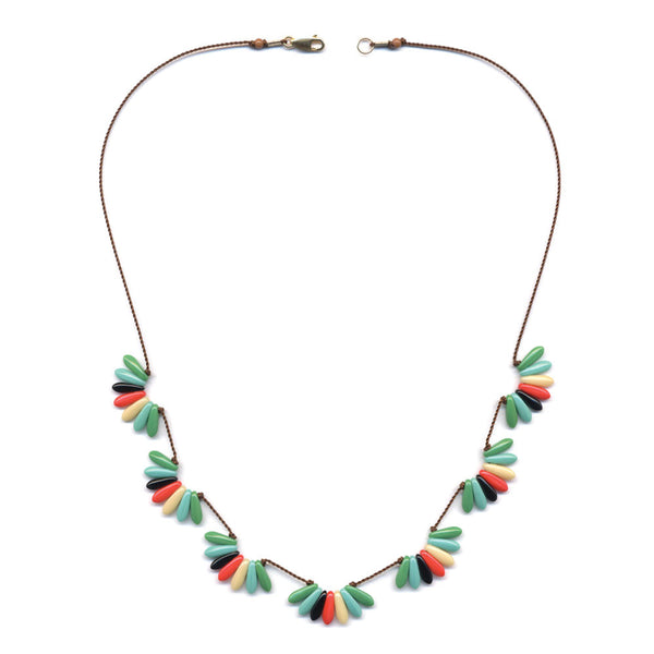 I. Ronni Kappos Multi-Colored Scalloped Necklace