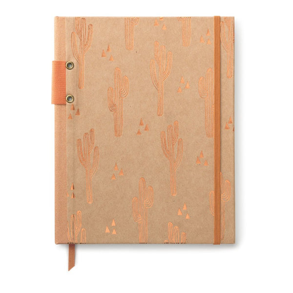 Kraft & Copper Foil Cactus Notebook