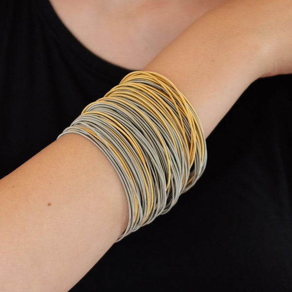 La Mollla Multi-Strand Mixed Gold Bracelets
