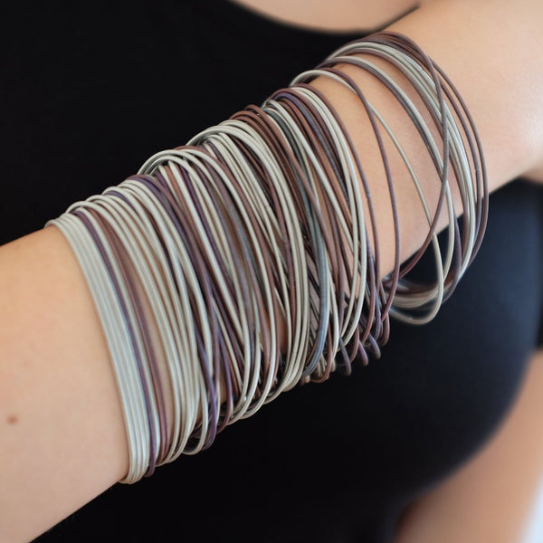 La Mollla Multi-Strand Mixed Dark Bracelets