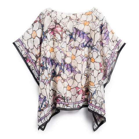 Louis C. Tiffany Magnolia Sheer Poncho