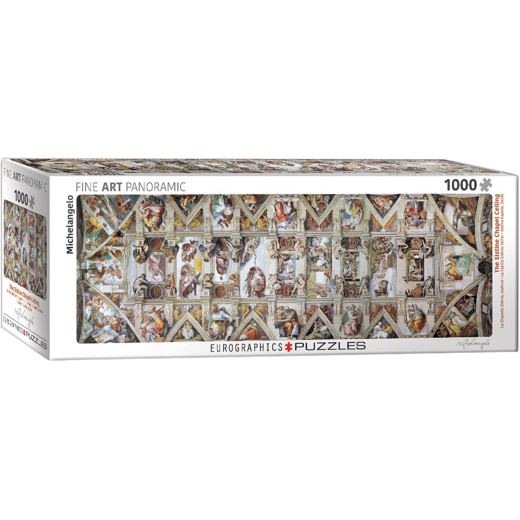 The Sistine Chapel Ceiling by Michelangelo Panoramic Puzzle
