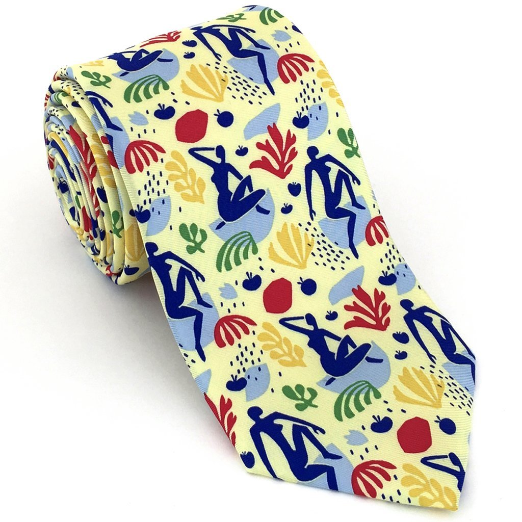 Modern Blues Art Silk Necktie