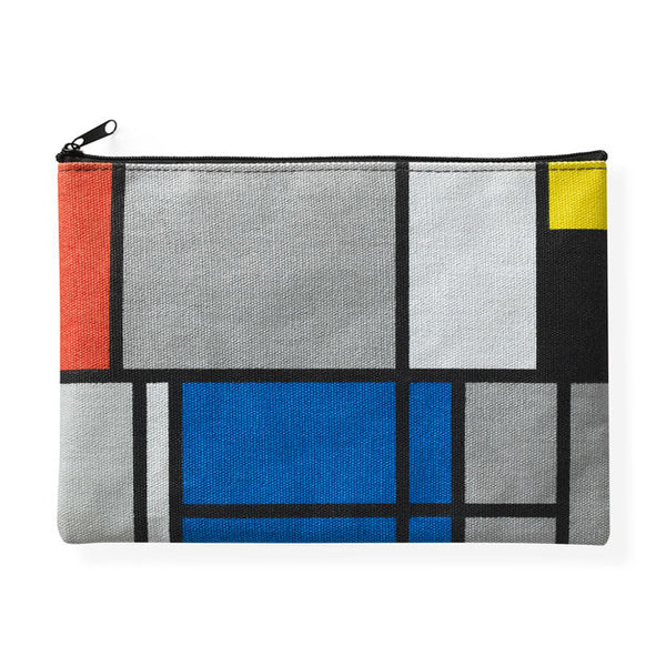 Mondrian Canvas Zip Pouch