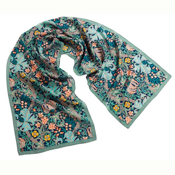 Morris Golden Lily Green Scarf