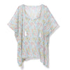 William Morris Pink And Rose Sheer Poncho