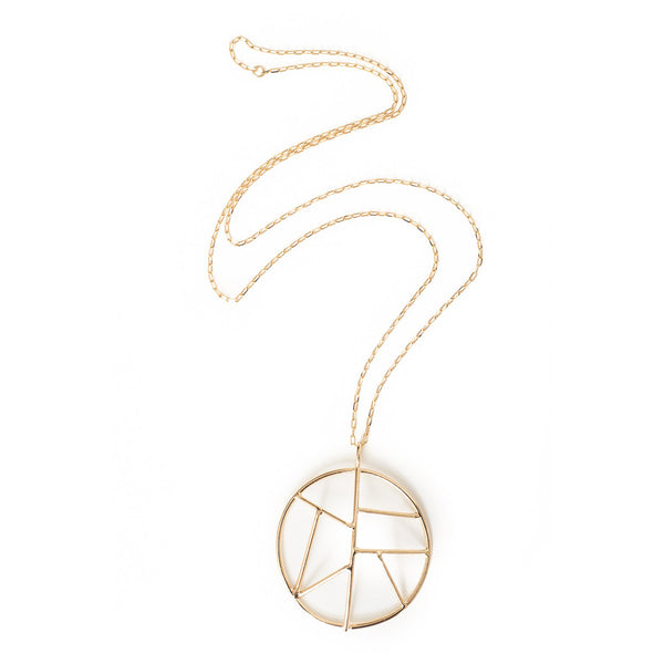 Nina Berenato Mosiac 14K Gold Necklace