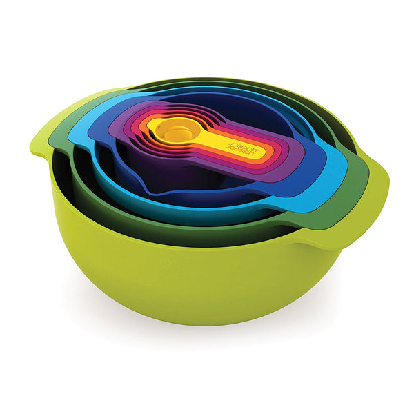 Joseph Joseph Nest 9 Plus - 9-Piece Nesting Bowl Set