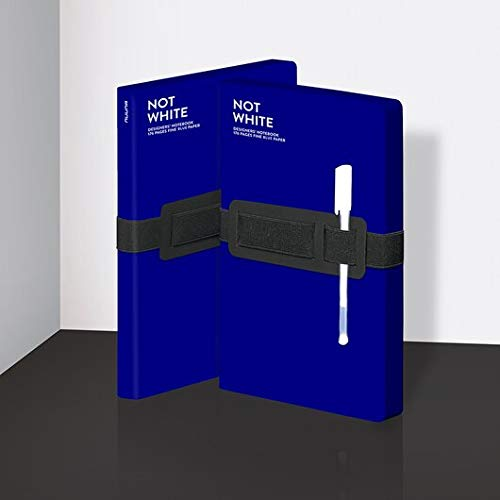 Not White Recycled Leather Notebook