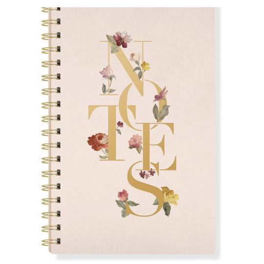 Floral Notes Spiral Journal