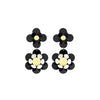 Isuwa Oya Black Flower Earrings