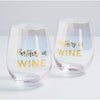 Partners In Wine Stemless Wine Glasses - Set of 2