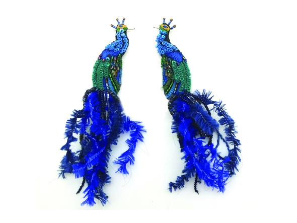Peacock Post Earrings