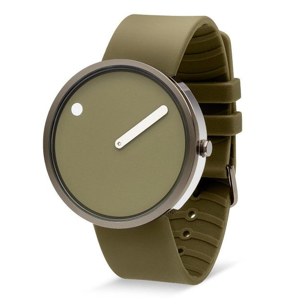 Picto 40mm Army & Polished Grey Watch