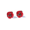 Red Poppy Post Earrings - Michael Michaud Design