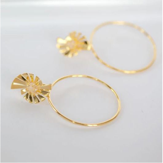 Caro Prism Hoop Earrings