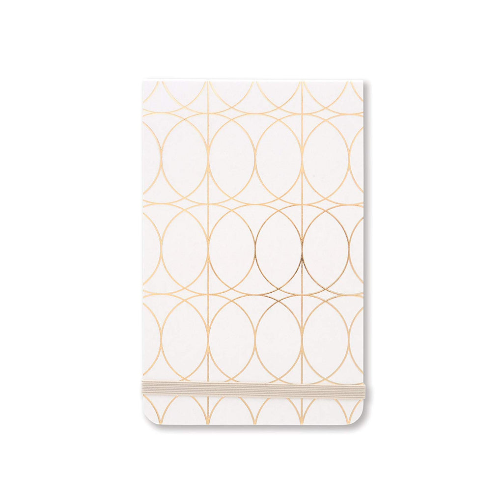 Gold Foil Circles Purse Note Pad