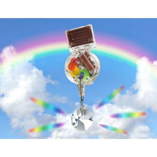 Solar Powered Rainbow Maker with Swarovski Crystal