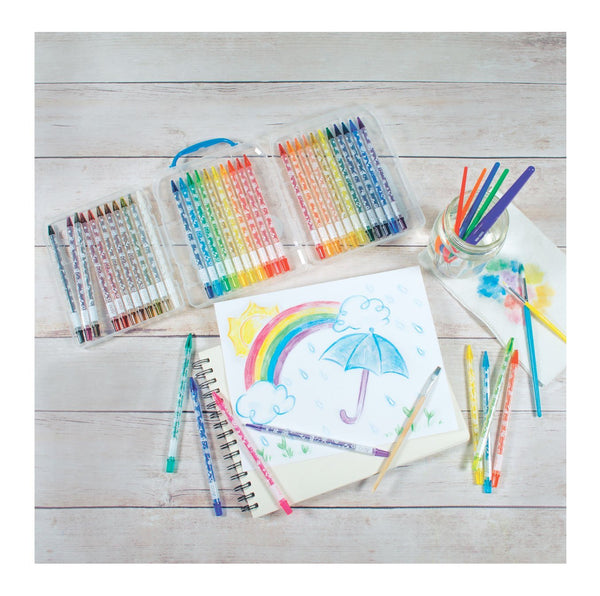 Rainbow Doodlers Twist-Up Colored Pencils, Set of 36