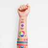 Rainbow Temporary Tattoo Set