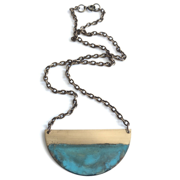 Rising Tide Half Circle Necklace