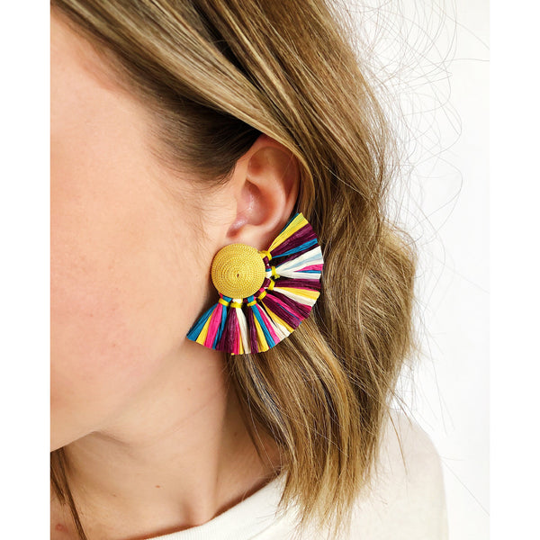 Ryder Multi-Color Fringe Earrings